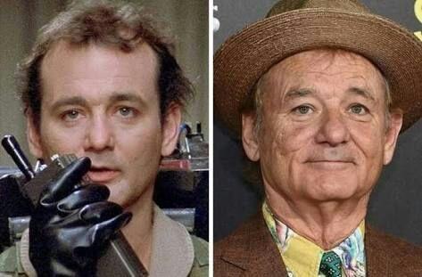 Bill Murray antes y después de viejo