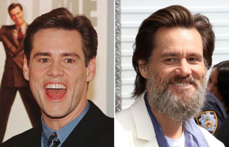 Jim Carrey antes y después de ser viejo