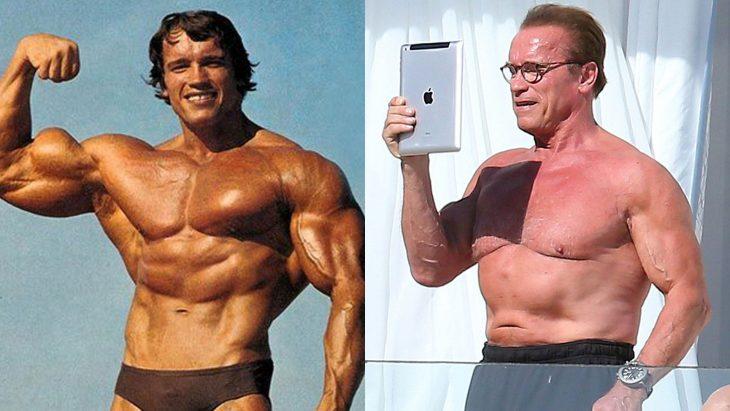 Arnold Schwarzenegger antes y después de su vejez