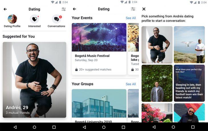 Aplicación Dating de Facebook para encontrar pareja