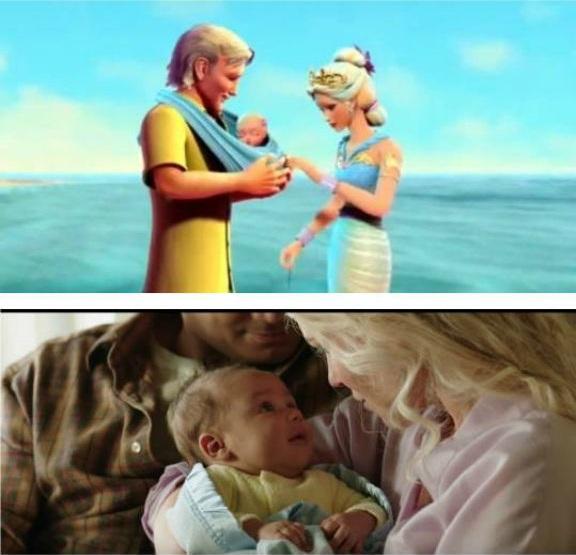 pareja cargando a su bebé