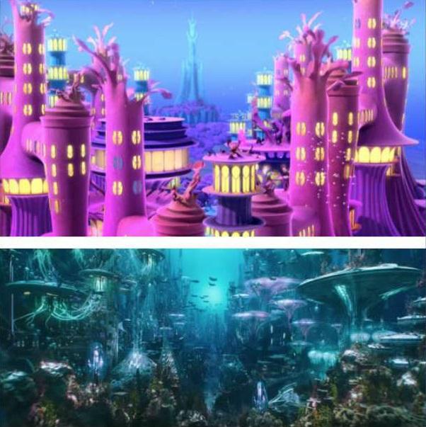 pilares bajo del mar
