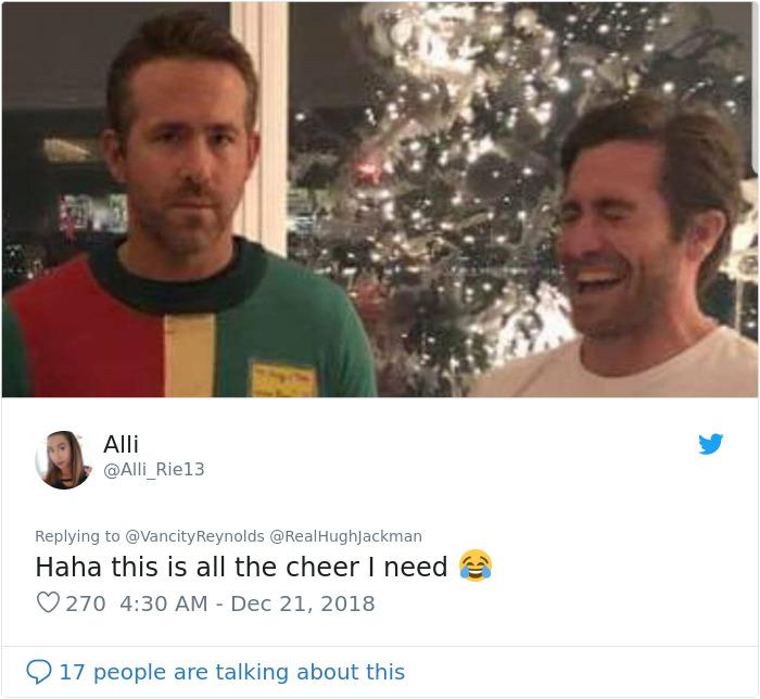 Comntarios en twitter sobre la broma a ryan reynolds