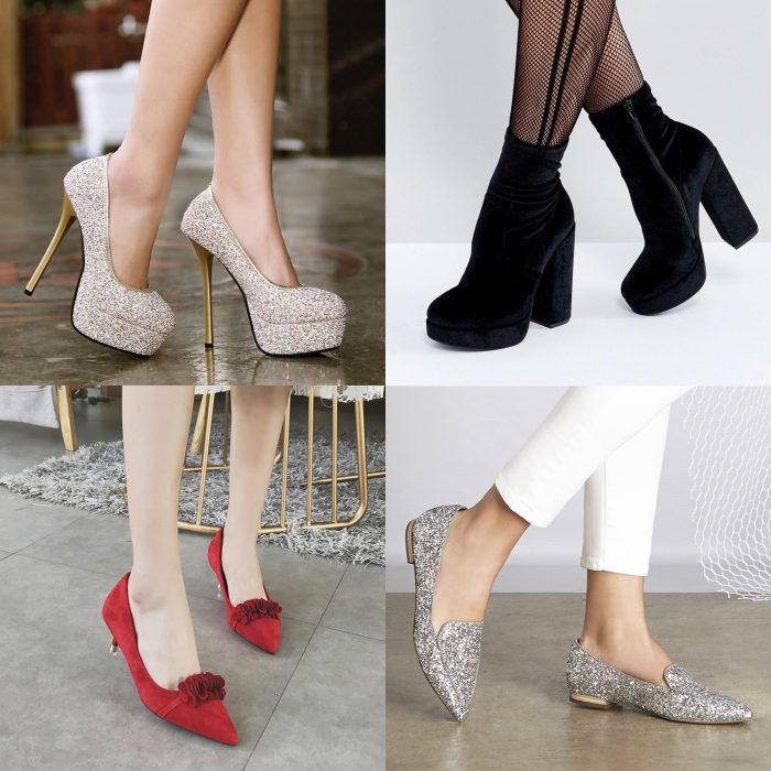 Tipos de zapatos perfectos para usar en la fiesta de Año Nuevo