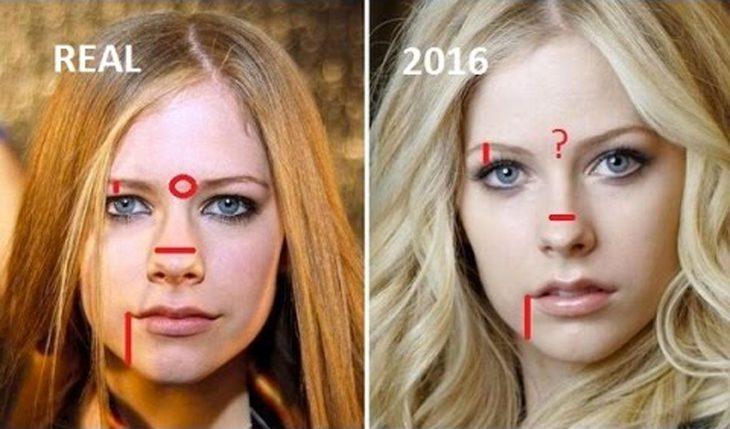 comparación facial entre chicas