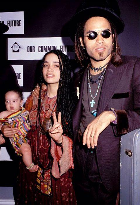 Bonet y Kravis en su juventud junto a su hija