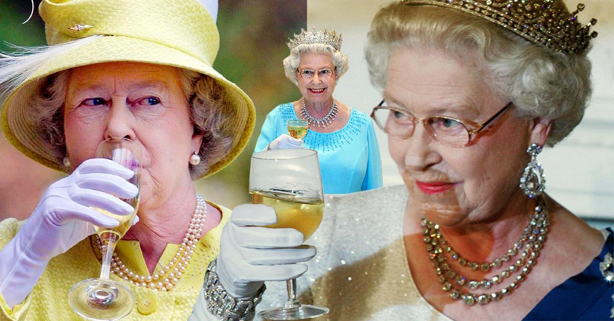 ¡Salud! La reina Isabel II bebe 4 cócteles al día para mantenerse joven