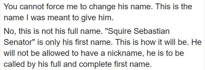 Comentarios en facebook sobre el nombre de un bebé
