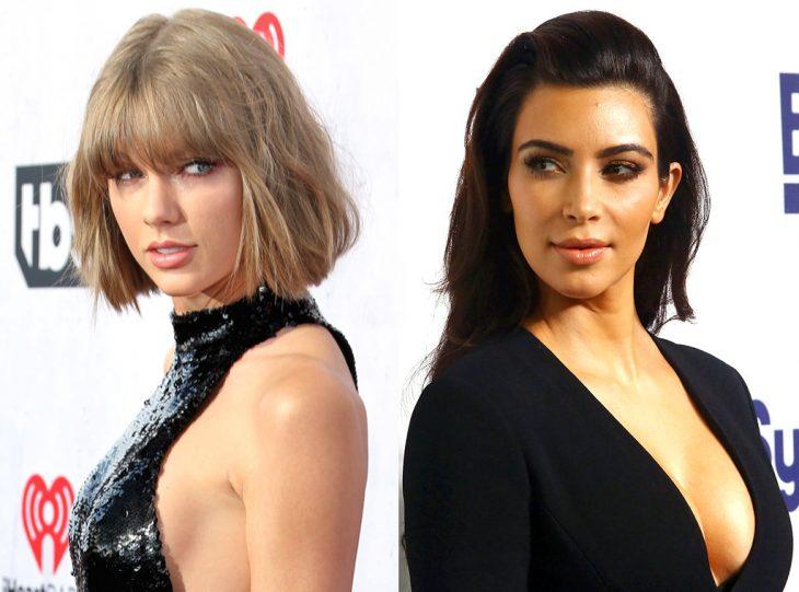 Taylor Swift y Kim Kardashian peleando