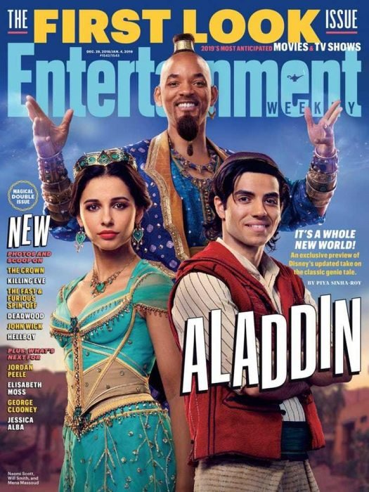 Poster oficial de la película de Aladdín