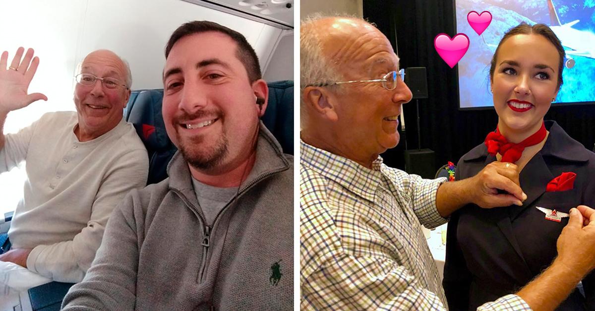 Este padre compró 6 boletos de avión para poder pasar Navidad junto a su hija azafata