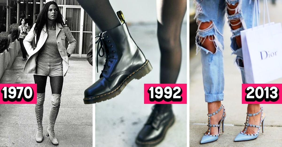 Estos son los estilos de zapatos que se usaron desde 1970