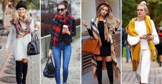 15 Maneras en las que puedes usar una bufanda en invierno