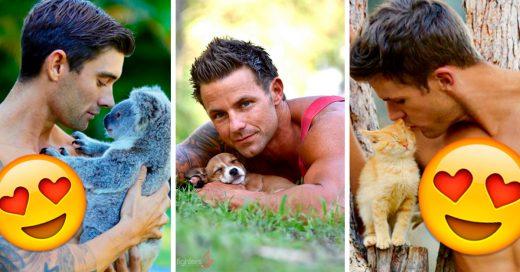 Estos calendarios de bomberos australianos posando con animales podrían causar que suba la temperatura