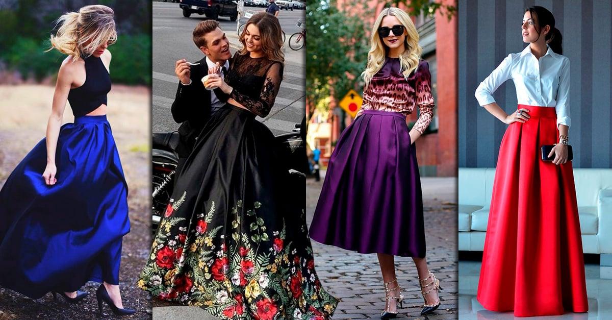 13 Pruebas de que las faldas largas de satín son mejores que los vestidos