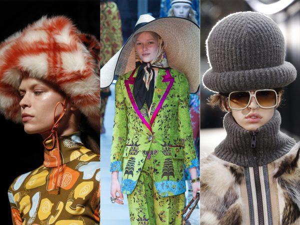 mujeres con sombreros de verano e invierno muy cortos