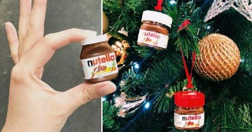 Estas mini Nutellas le darán un toque dulce a tu Navidad