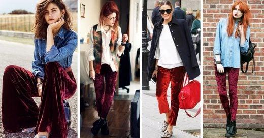 10 Razones por las que querrás usar un pantalón rojo de terciopelo en Año Nuevo