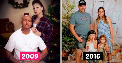 Esta familia ha hecho las fotos más divertidas de Navidad durante 16 años seguidos