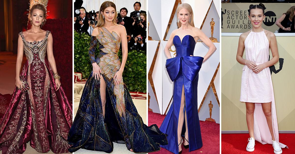 21 Atuendos memorables de famosas en las mejores alfombras rojas del 2018