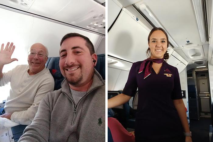 hombres abordo de un avión