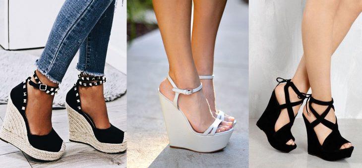 Zapatos de tacón corrido