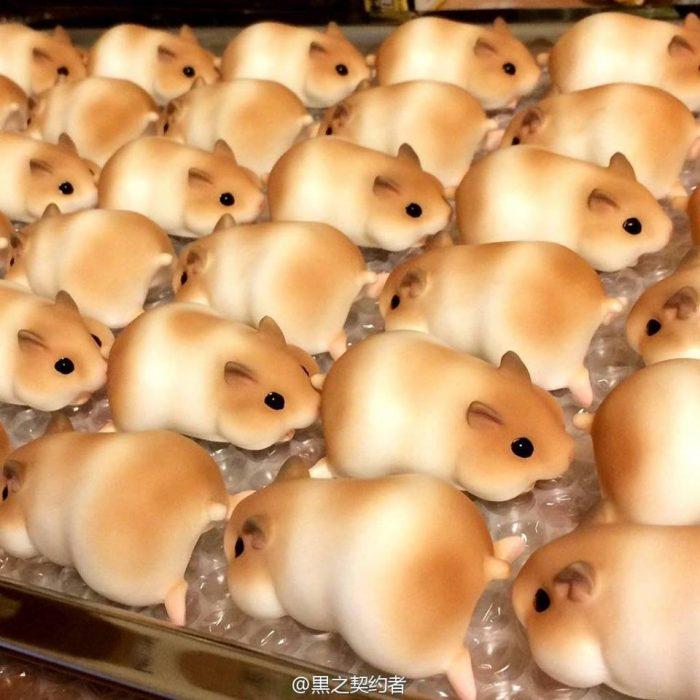 panes en forma de hamsters