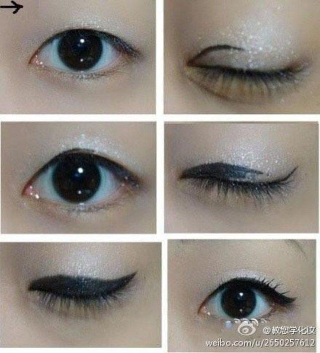 ojos rasgados y delineado