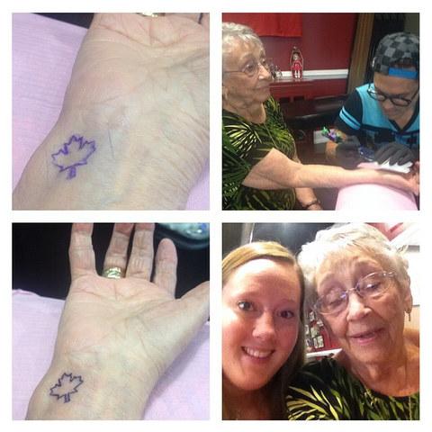 mujeres con tatuajes en el brazo