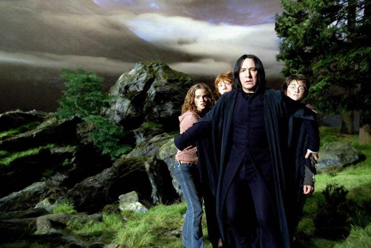 Alan Rickam como Severus Snape para Harry Potter