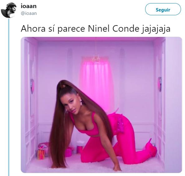 Comentarios en Twitter sobre el parecido de Ariana Grande con Ninel Conde