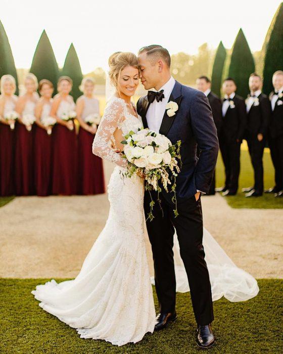 Novios el día de su boda