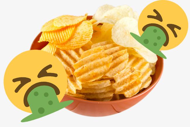 tazon de papas fritas con un emoji