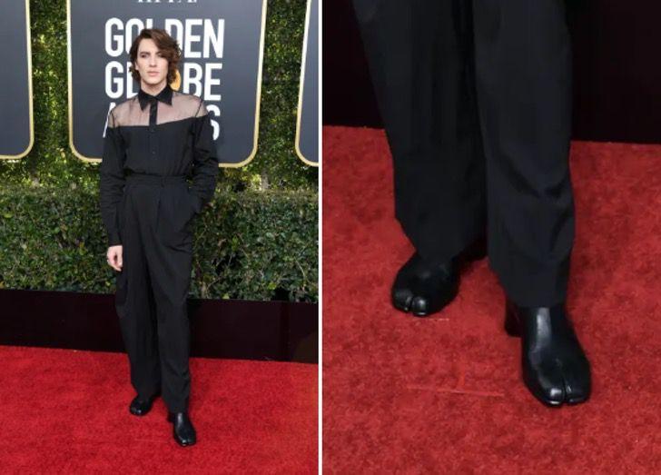 hombre con cabello corto y zapatos negros
