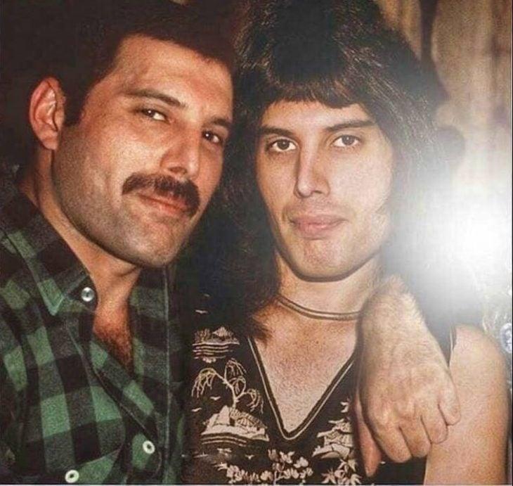 Photoshop de famosos antes y después, Freddie Mercury
