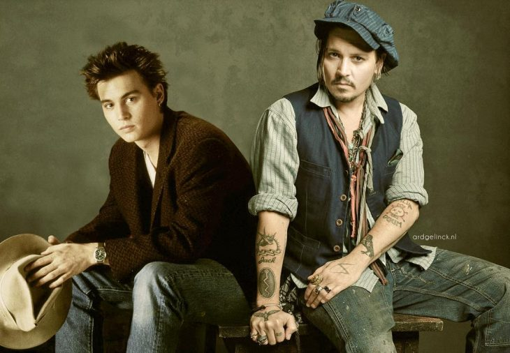 Photoshop de famosos antes y después, Johnny Depp