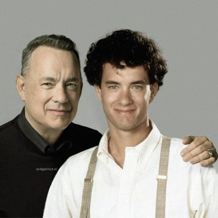 Photoshop de famosos antes y después, Tom Hanks