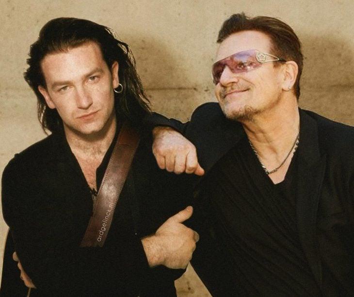 Photoshop de famosos antes y después, Bono