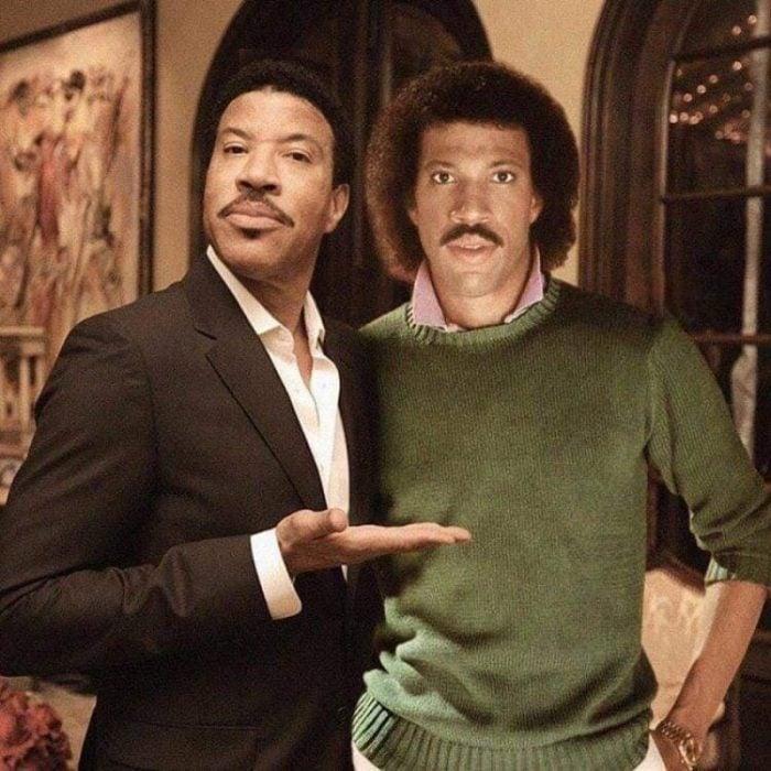 Photoshop de famosos antes y después, Lionel Richie