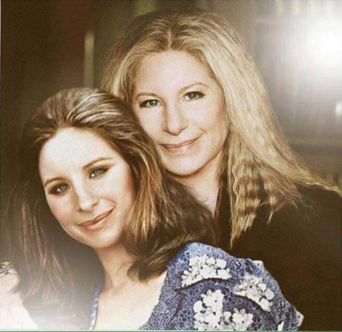 Photoshop de famosos antes y después, Bárbara Streisand