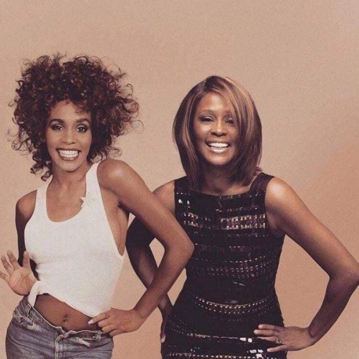 Photoshop de famosos antes y después, Whitney Houston