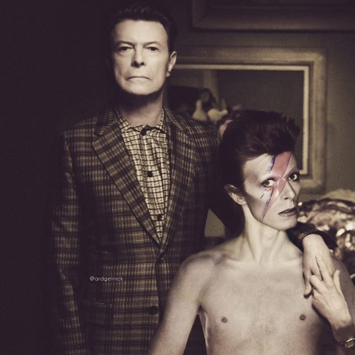 Photoshop de famosos antes y después, David Bowie