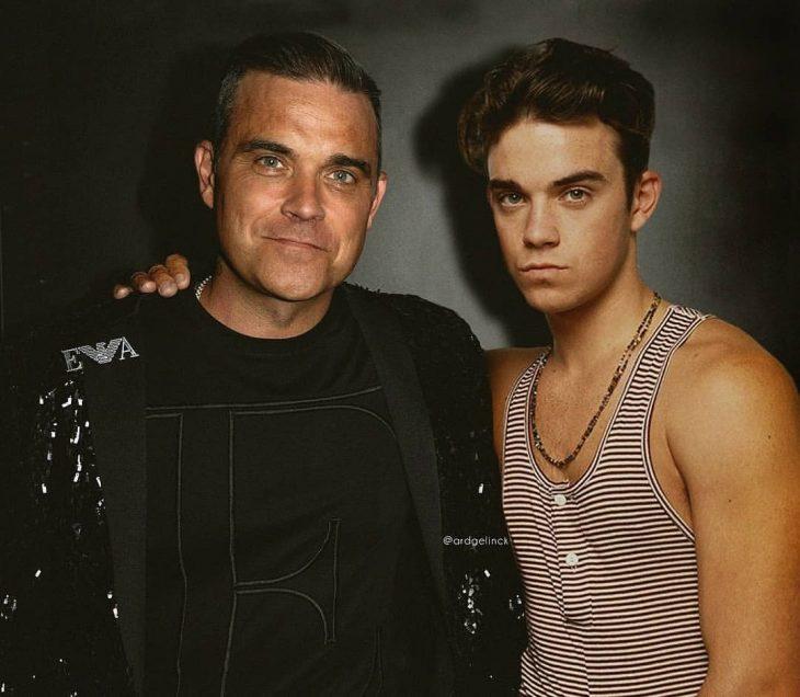 Photoshop de famosos antes y después, RobbieWilliams