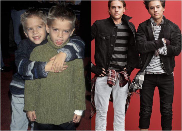 hermanos gemelos posando para fotos