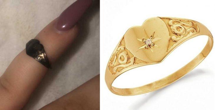Después de 12 años chica encuentra dentro de su nariz el anillo de oro en forma de corazón que había perdido