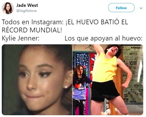 Un huevo le quita el récord de la foto más likeada a Kylie Jenner en Instagram