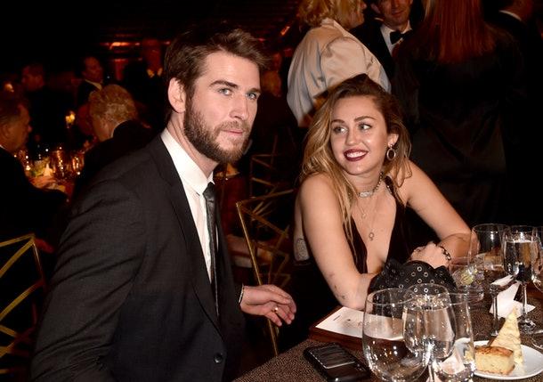 Liam y Miley Cyrus en su primer evento como esposos