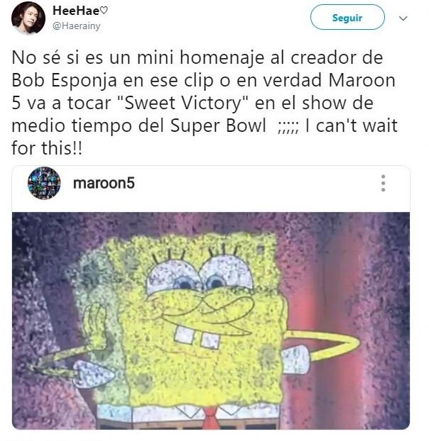 tuit sobre Maroon 5 en Super Bowl
