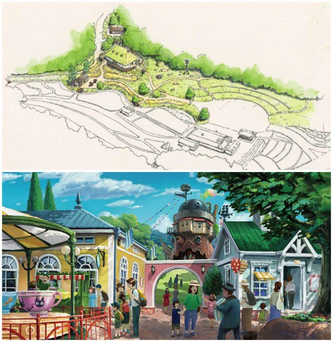 dibujo de un parque pequeño