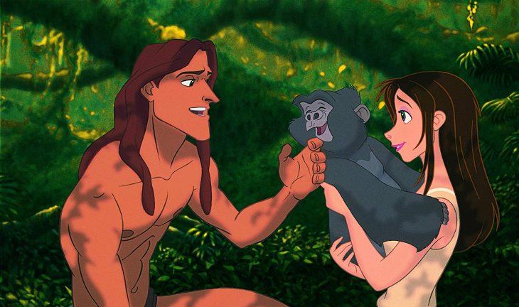 Escena de la película Tarzan de Disney